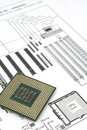 Diagramm und CPU Stockfotos