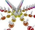 Diagramma organizzativo - collegamenti Fotografia Stock Libera da Diritti