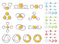 Diagrams icon set Stock Images