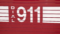 Dial 911 - decal Stock Photography
