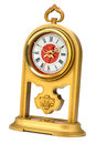 Dial of analog watch gold ornament Royalty Free Stock Photos