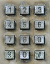 Dial pad of public telephone box Royalty Free Stock Photo