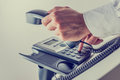 Dialing a phone number Royalty Free Stock Photo