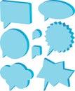 Dialog balloons Royalty Free Stock Photo