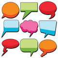 Dialog bubbles Stock Images