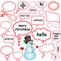 Dialog bubbles (christmas concept) Stock Photography