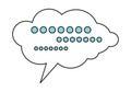 Dialog Cloud Icon Royalty Free Stock Photo