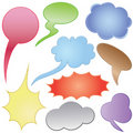 Dialog clouds. Stock Photography