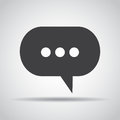 Dialog icon with shadow on a gray background. Vector illustration