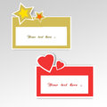 Dialog logo cards on a bright surface Royalty Free Stock Photography