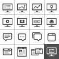 Dialog and message boxes computer screen symbols icons simplus series vector illustration Royalty Free Stock Photos