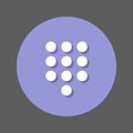 Dialpad, numeric keypad flat icon. Round colorful button, circular vector sign with shadow effect. Flat style design.