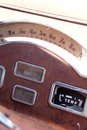 Dials of an old car Stock Image