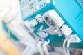 Dialysis machine detail Royalty Free Stock Photo