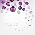 Diamond background purple abstract with diamonds Royalty Free Stock Photos
