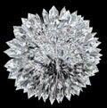 Diamond ball with acute stalagmites Stock Images