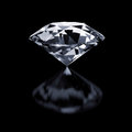 Diamond on black a background Royalty Free Stock Photos