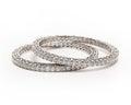 Diamond bracelet pair of bangles with many Royalty Free Stock Photo