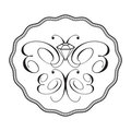 Diamond butterfly logo - ornament Royalty Free Stock Photo