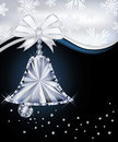 Diamond christmas bell greeting card vector illustration Stock Image