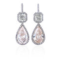 Diamond earrings. Royalty Free Stock Photo