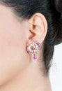 Diamond earrings Royalty Free Stock Photo