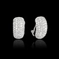 Diamond earrings on black background Royalty Free Stock Photo