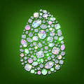 Diamond egg easter symbol made with shiny diamonds Stock Image