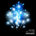 Diamond firework display beautiful vector Stock Images