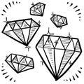 Diamond gem sketches