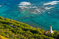 Diamond Head Lighthouse, Honolulu, Hawaii Stock Image