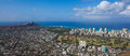 Diamond Head and Waikiki Royalty Free Stock Photo