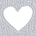 Diamond heart frame Stock Photography
