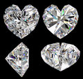 Diamond heart isolated Stock Images
