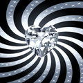 Diamond Heart Ray 1 Stock Image