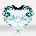 Diamond heart shape on white background picture of is create by d program Stock Photo