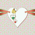 Diamond hearts and photographic paper heart Royalty Free Stock Photo