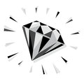 Diamond illustration of a sparkling Royalty Free Stock Images