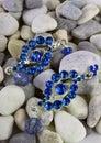 Diamond jewelery on stones Stock Image
