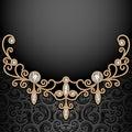 Diamond jewelry necklace background