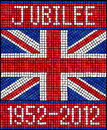 Diamond Jubilee mosaic Royalty Free Stock Photos