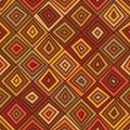 Diamond line brown color seamless pattern
