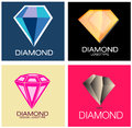 Diamond logo set signs Fotografia Stock