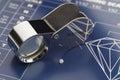 Diamond Loupe and Chart Royalty Free Stock Photo