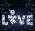 Diamond love card