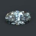 Diamond oval brilliant cut isolated Royalty Free Stock Photo