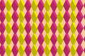 Diamond pattern a seamless of red and yellow shapes Royalty Free Stock Photography