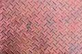 Diamond pattern steel texture Royalty Free Stock Photo