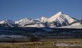 Diamond Peak in Winter Royalty Free Stock Photo