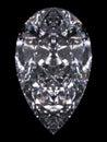 Diamond pear cut Stock Photos